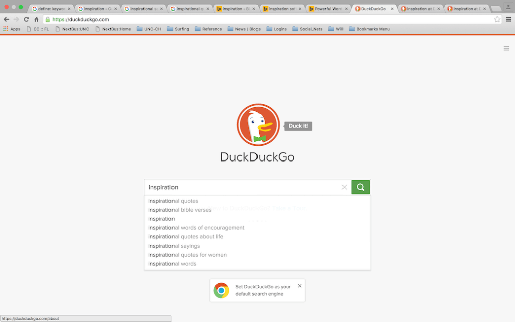 keyword searching example on duckduckgo search engine